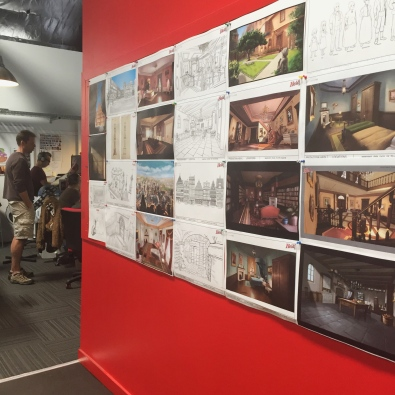 Our offices are scattered with concept art for some of our upcoming films.