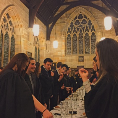 Waiting for the High Table to enter at one of our weekly formal dinners