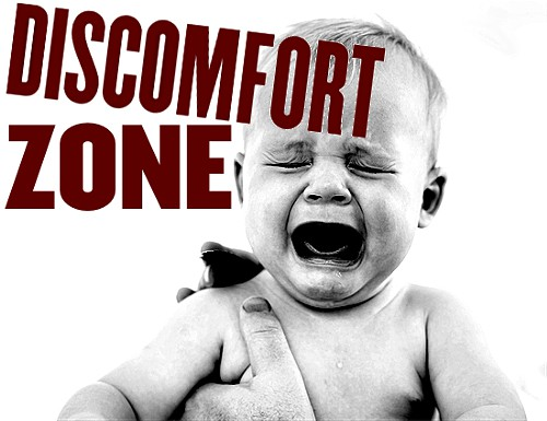 Baby crying in discomfort zone